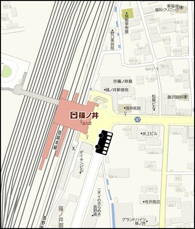 篠ノ井駅東口ロータリー付近
